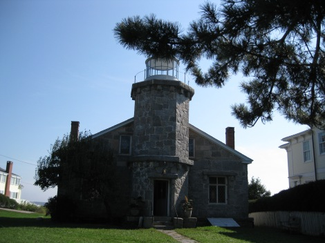 Zephyr visits this lighthouse on his walks through the streets of Stonington Point, CT.